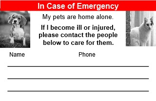 in of emergency about pet food