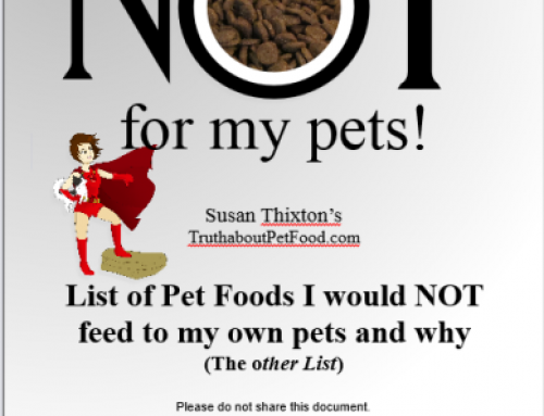 The Other List (Pet Foods I Would Not Give to my Own Pets)
