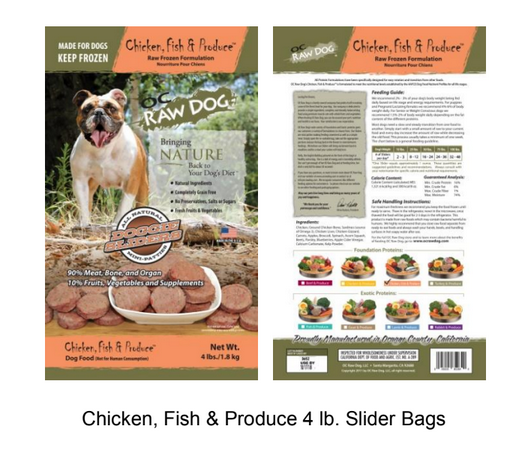 OC Raw Dog, LLC Recalls one lot of Chicken, Fish & Produce because of possible health risk