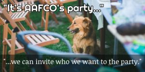 """""""It's AAFCO's party..."""""""