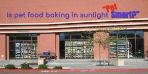 Sunlight Damaged Pet Food