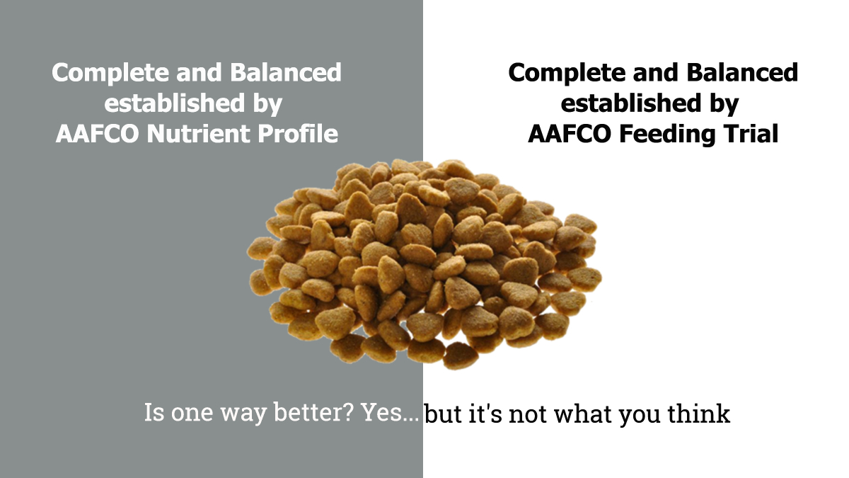 Complete And Balanced Via Feeding Trial Or Nutrient Profile